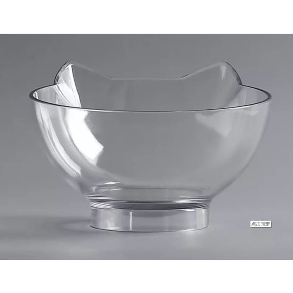Anti-slip Cat Food Bowl Cervical Protection - Single Clear