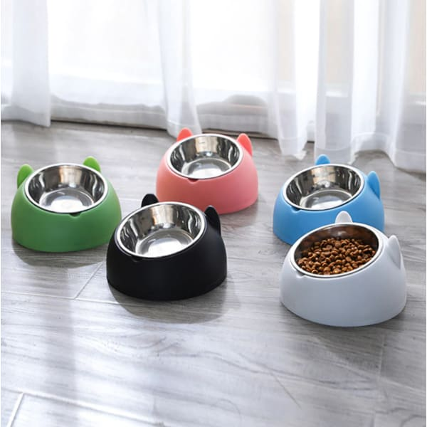 Pet Stainless Steel Food Bowls | Protective Cervical