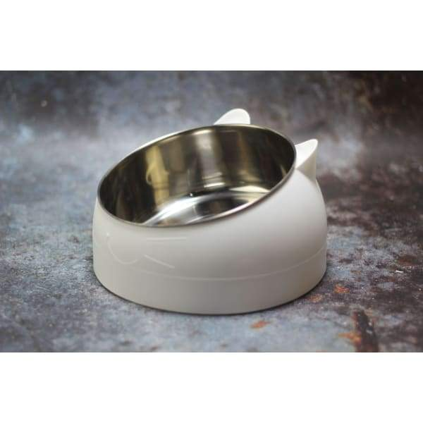 Oblique Mouth Pet Bowl | Pet Stainless Steel Food Bowls -