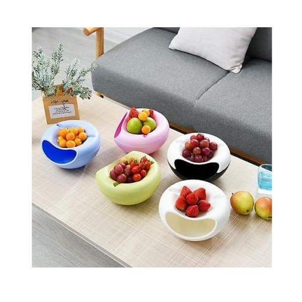 Plastic lazy double dry fruit plate creative fruit plate -