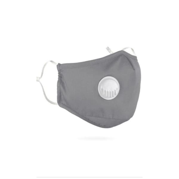 PM 2.5 Adult Face Mask W/ Ear Clip - Grey - Beauty & Health