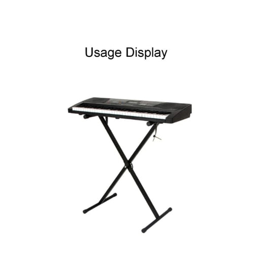 Portable Folding Adjustable Keyboard Piano Stand - Black -