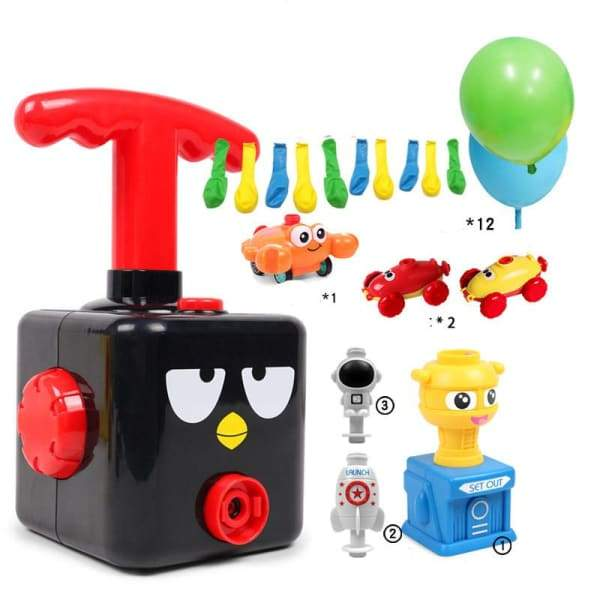 Power Balloon Launch Tower Toy or Children Gift - A Black -