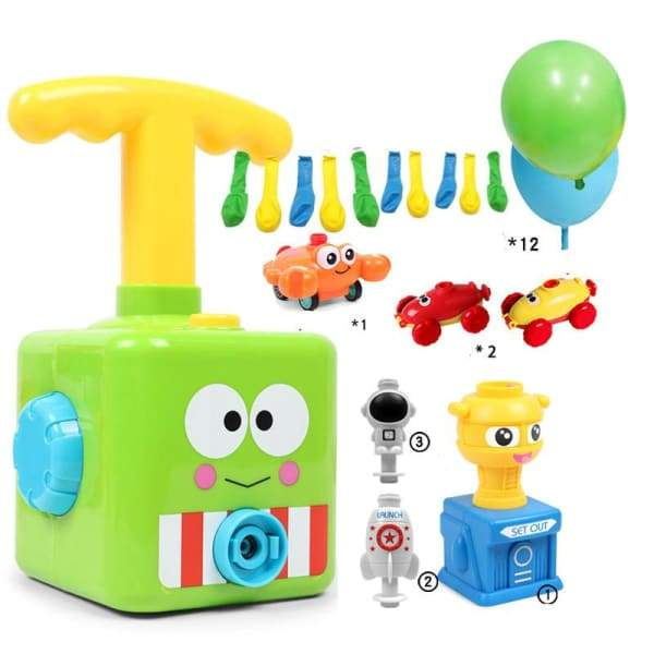 Power Balloon Launch Tower Toy or Children Gift - A Green -