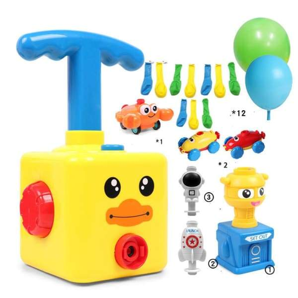 Power Balloon Launch Tower Toy or Children Gift - A Yellow -