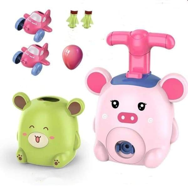 Power Balloon Launch Tower Toy or Children Gift - Pig set -