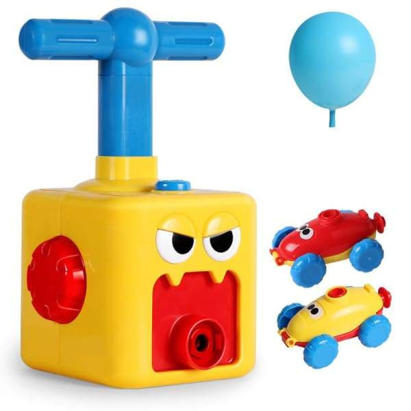 Power Balloon Launch Tower Toy or Children Gift - Yellow -