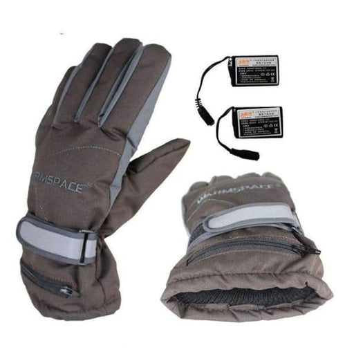 Rechargeable Heated Gloves - Gray - Beauty & Health