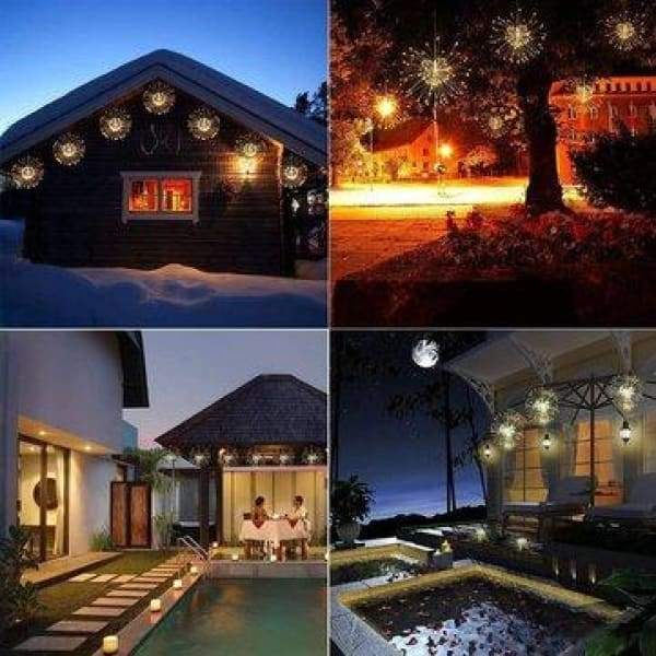 Battery Powered 150/180LED 8 Modes DIY Firework String Christmas Light with 13 Keys Remote Control - XpressGoods