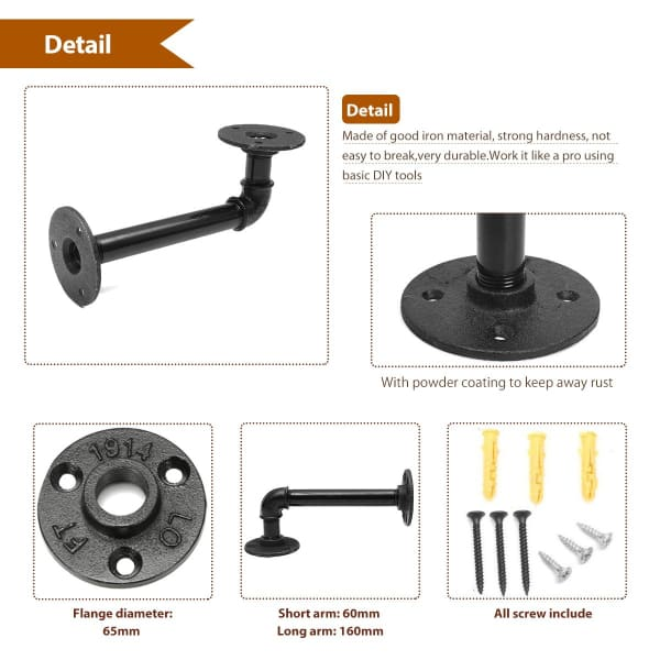 Retro Diaphragm Support Bracket For Books - Black - Home