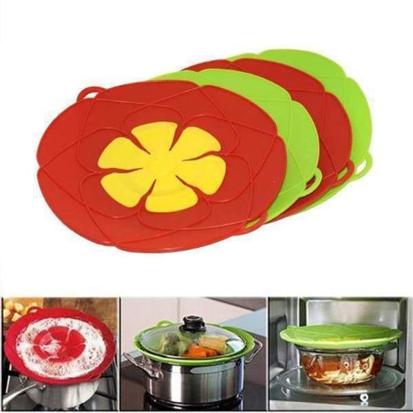 Silicone Anti-overflow Lid | Spill Stopper Pot Lid - Green /