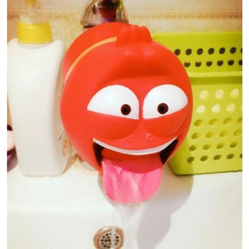 Silicone Cute Animal Sink Tap For Kids - Red - Toddler Zone