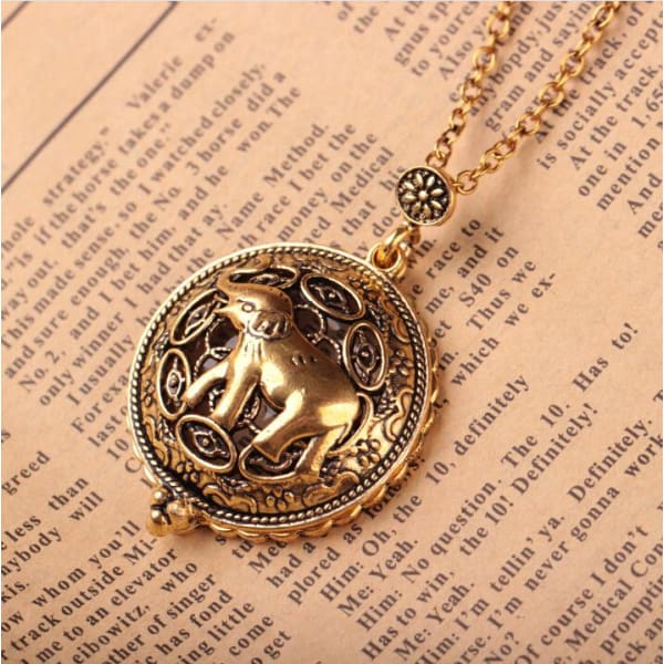 VINTAGE MAGNIFYING GLASS GOLDEN NECKLACE - XpressGoods