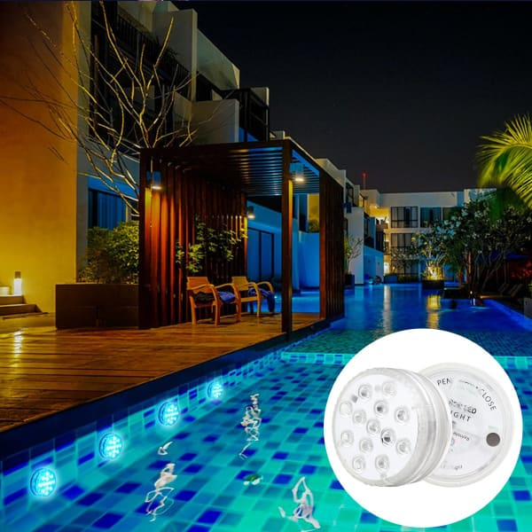 Waterproof LED Underwater Light | RGB Swimming Pool Lamp - A