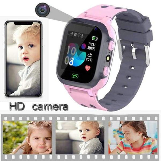 Waterproof Smartwatch for Kids | Kids GPS Watch - Pink -
