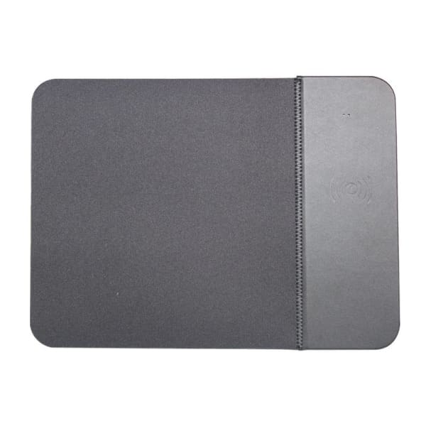 Wireless Charger Rubber Mouse Pad - Grey / 5W - Electronics