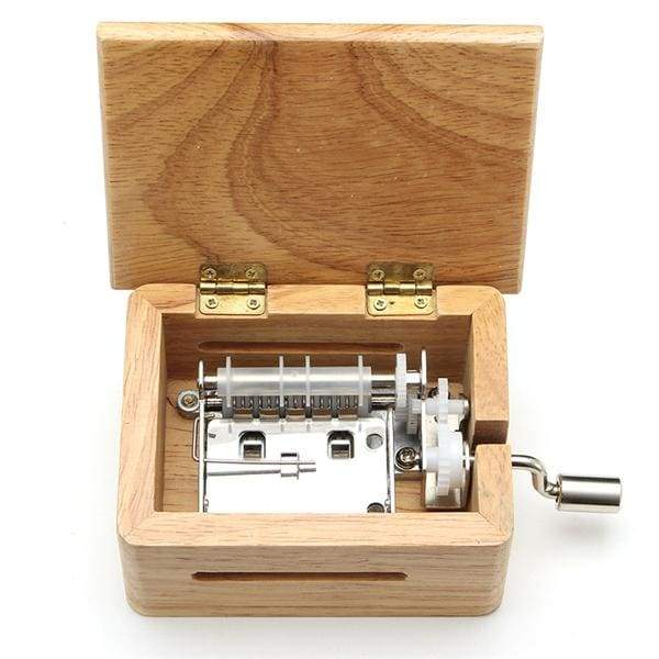 Wooden Music Box With Hole Puncher And Paper Tapes - Wooden