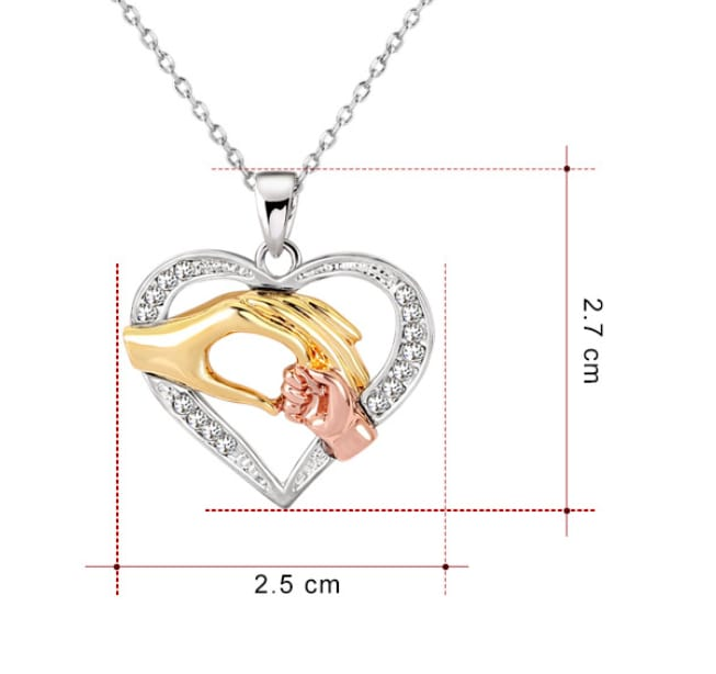 Love Heart Necklace chain for Couples
