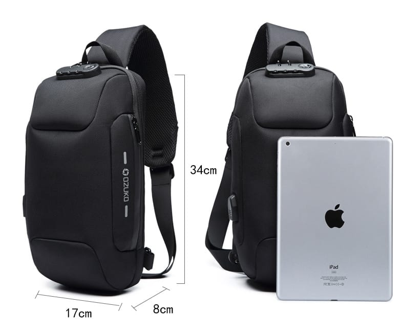Usb anti-theft men��s chest bag