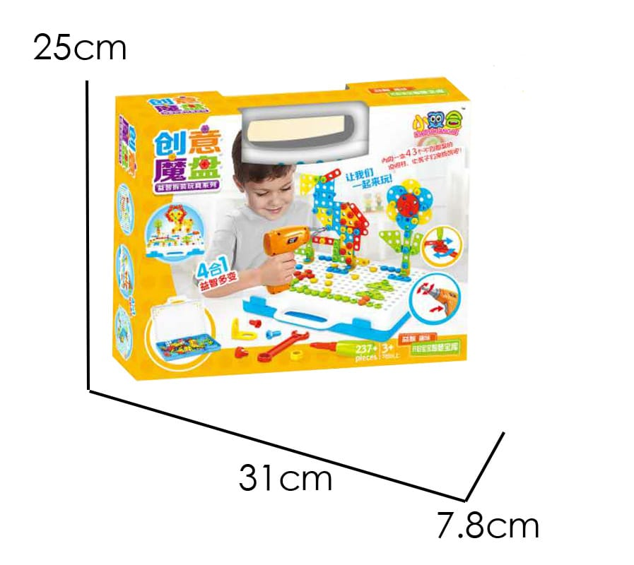 Creative Building Blocks kit   Puzzle Construction Toys with