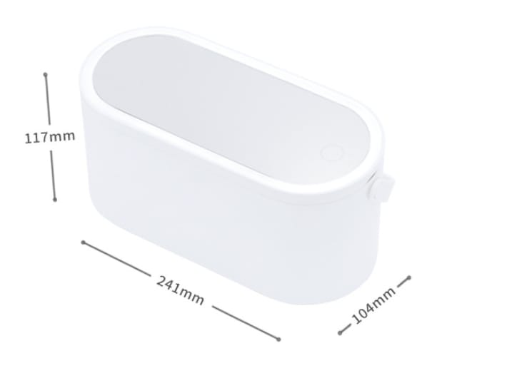 Led table contains cosmetic mirror   Cosmetic Storage Box
