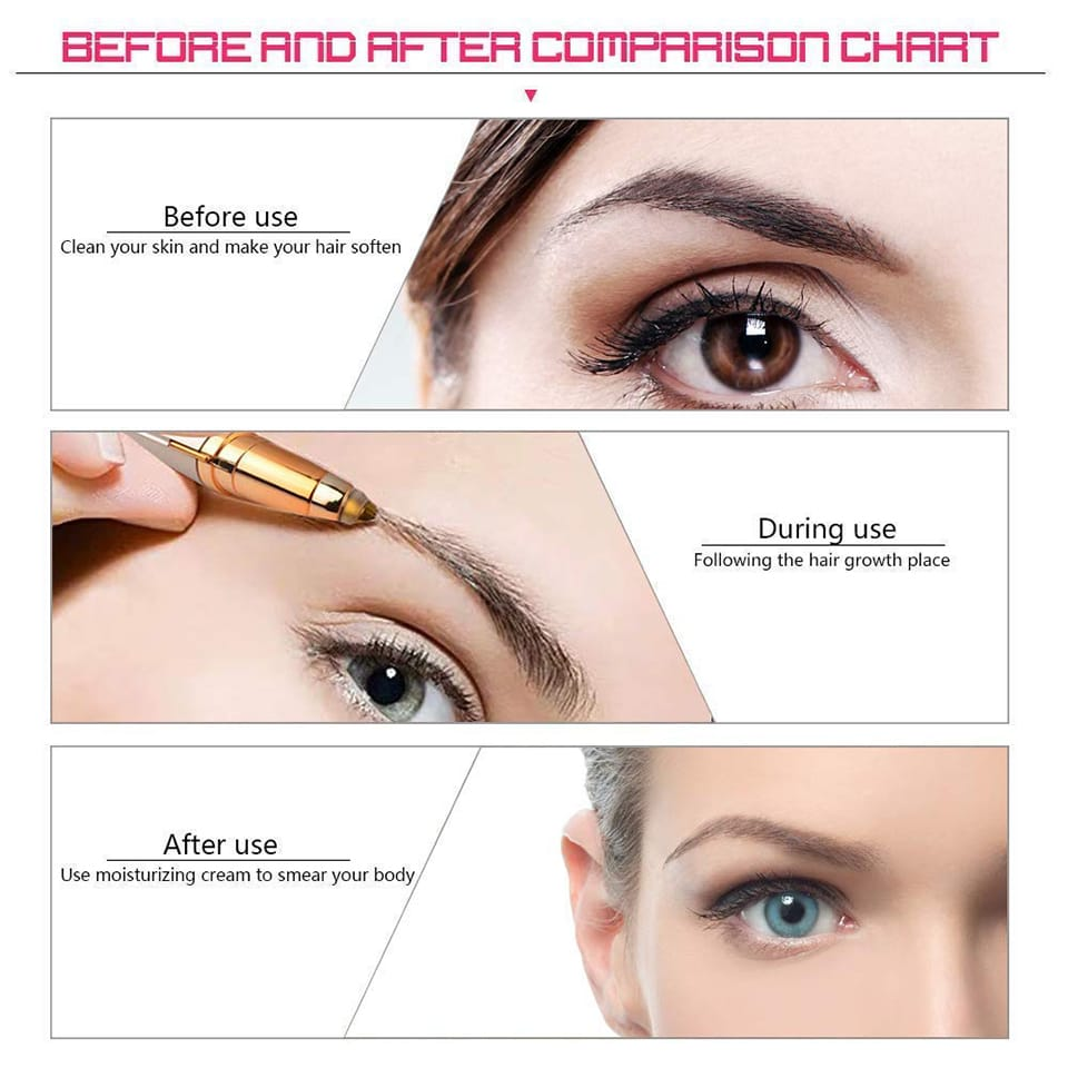 Mini USB Electric Eyebrow Trimmer With Led Light | painless