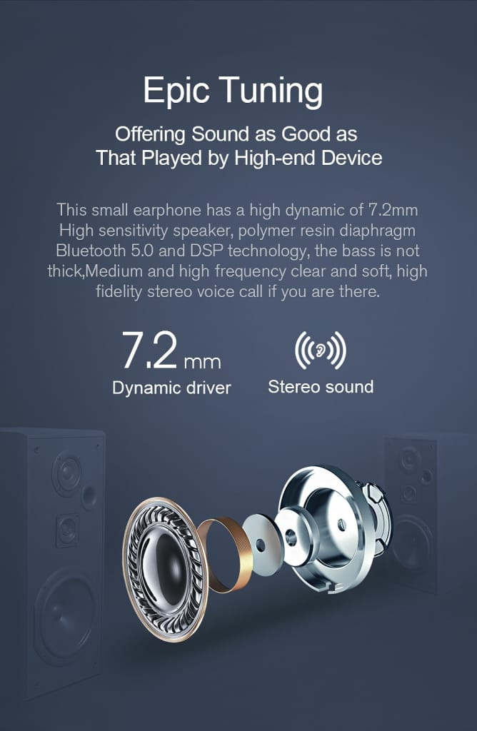 Haylou GT1 TWS Fingerprint Touch Bluetooth HD Stereo Noise