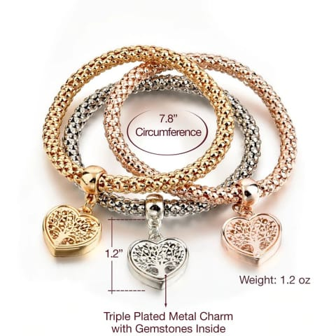 handicraft charm bracelet with heart