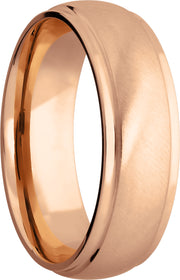 Lashbrook Wedding Band style 14KR7DGE-P+ANGLE