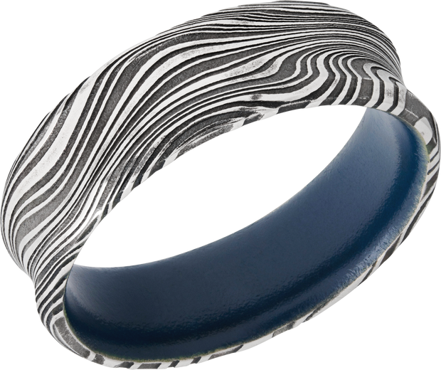 Lashbrook Wedding Band style D7CBMARBLE+SKYBLUEIN