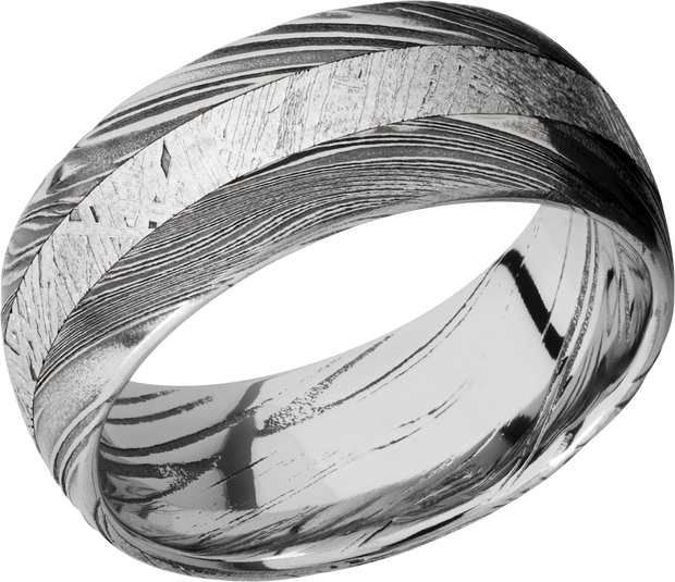 Lashbrook Wedding Band style D9D13WOODGRAIN_METEORITE