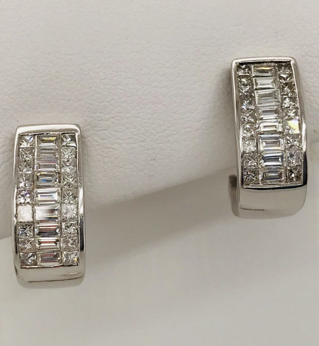 Boutique Selection Diamond Hoop Earrings