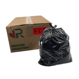35 x 50 2.0 mil Construction Grade Garbage Bags - SEMCO