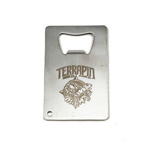 Etched Credit Card Bottle Opener