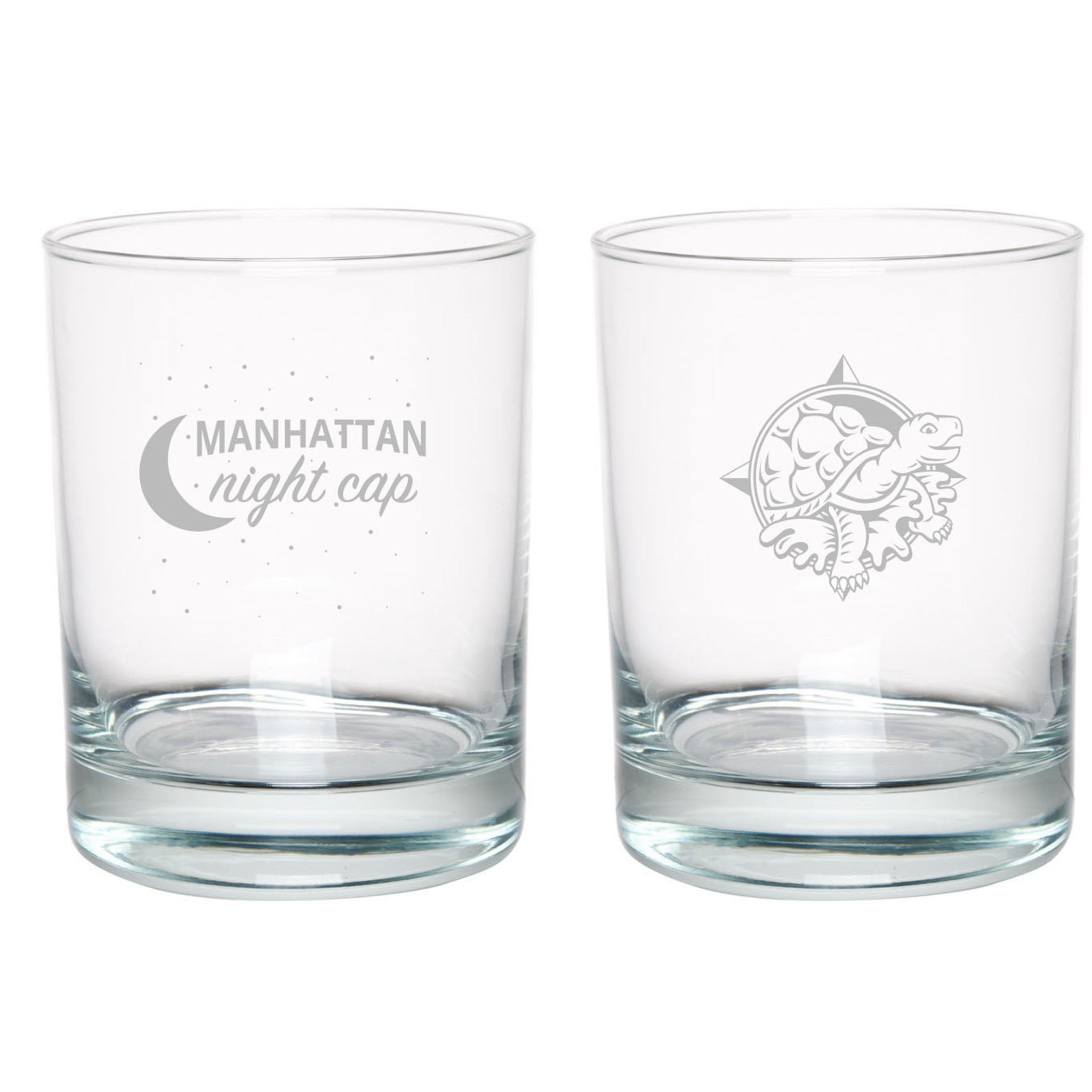 Manhattan Night Cap Double Rocks Glass