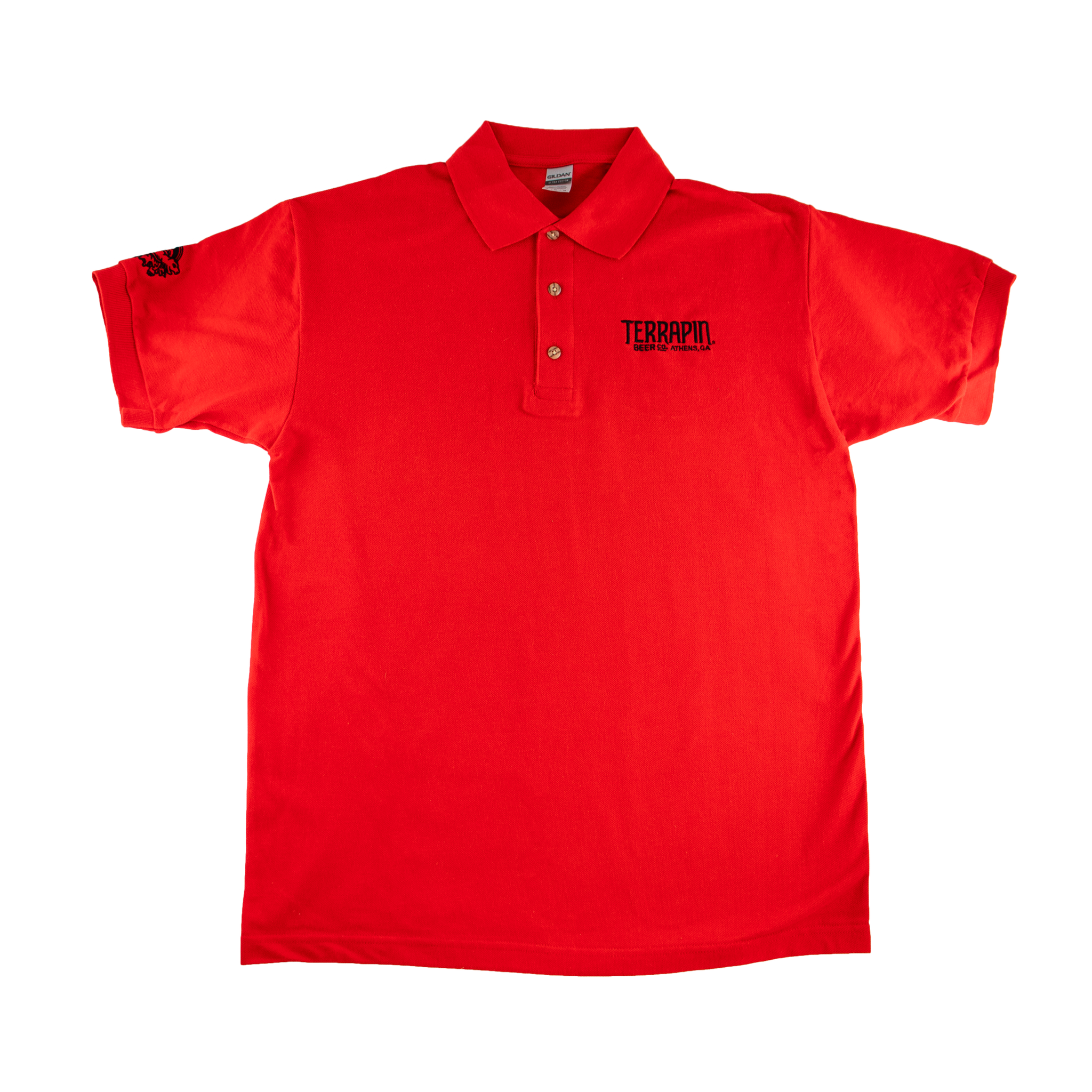 Black & Red Cotton Polo