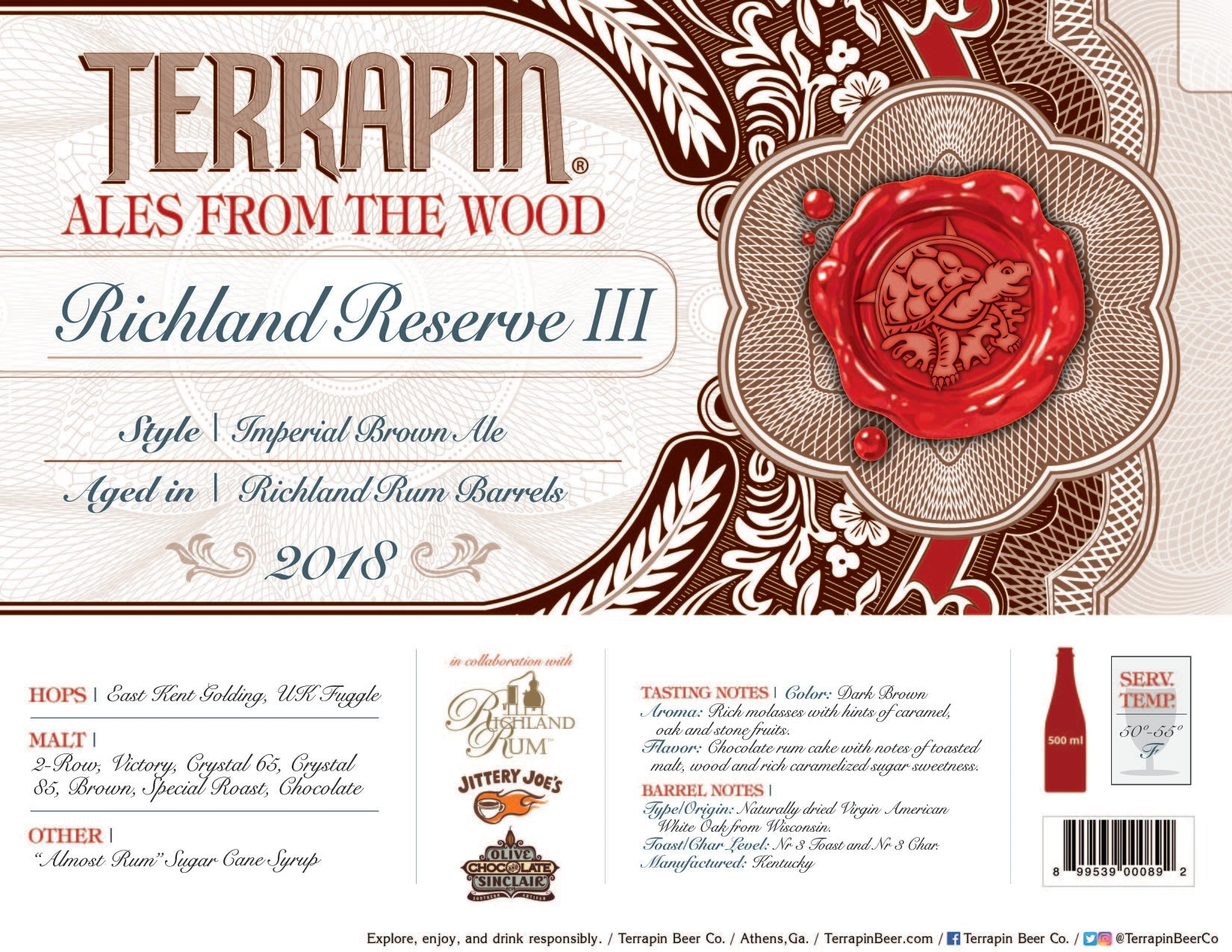 Richland Reserve III Barrel-Aged Imperial Brown Ale