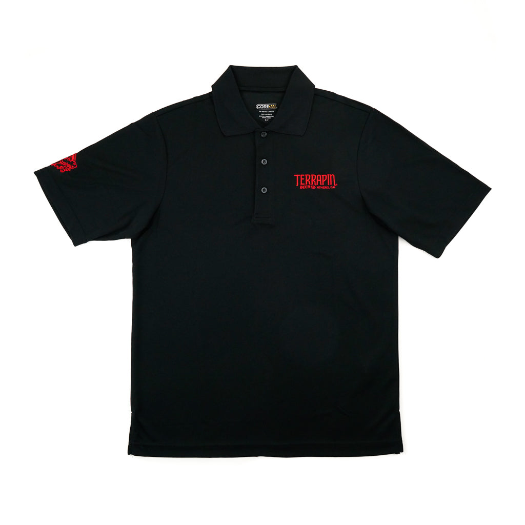 Red & Black Dri Fit Polo