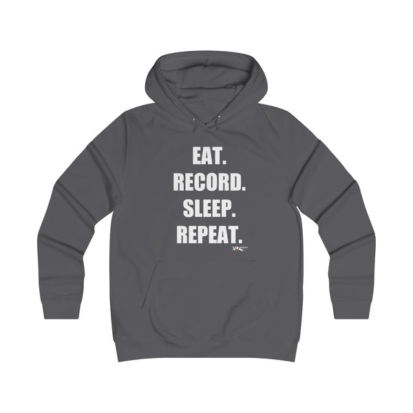 Eat. Record. Sleep. Repeat - Premium Unisex Hoodie