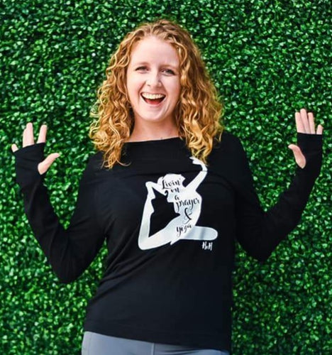 Livin' On A Prayer & Yoga Long Sleeve Tee