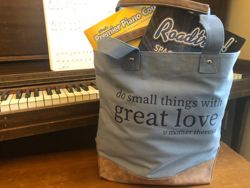 Great Love Canvas Weekend Tote