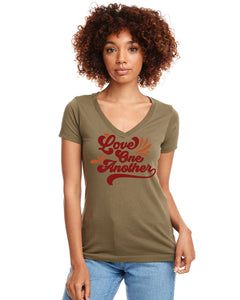 Love One Another Women's V-Neck