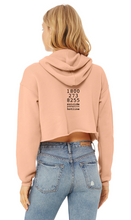 Load image into Gallery viewer, Check on Your Friends Women's Crop Hoodie