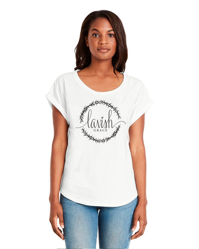 Lavish Grace Women's Rolled Sleeve Tee