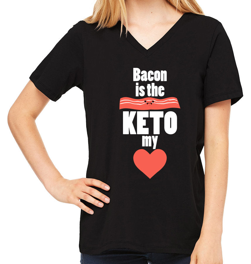Bacon is the KETO my Heart | Women's V-Neck Tee