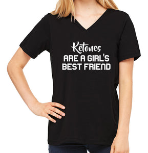 Ketones are a Girl's Best Friend | Women's V-Neck Tee