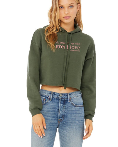 Great Love Women's Cropped Hoodie