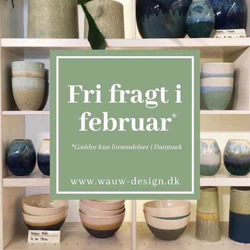 Free shipping in February (only applies to delivery in Denmark)