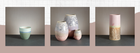 WAUW design ceramic workshop Østerbro, Copenhagen. Handmade pottery by potter Sussi Krull.