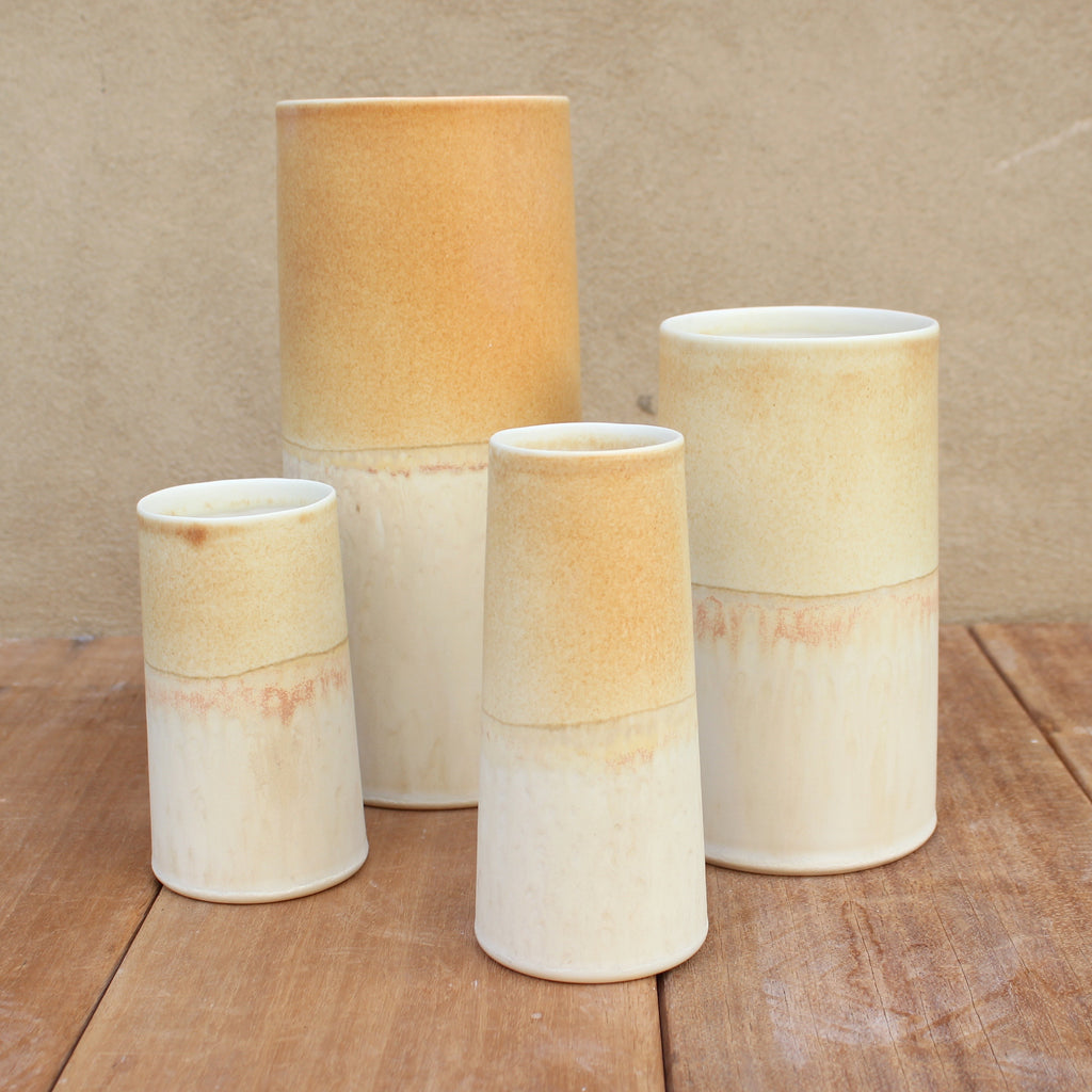 Sustainable Vase - Cream/Sun yellow